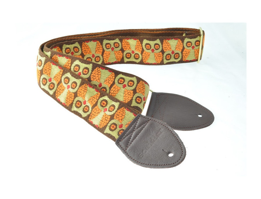 Souldier guitar strap brown owls xl