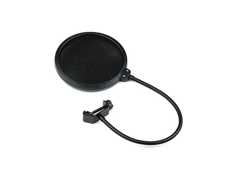 DragonPad pop filter Studio Microphone Mic Wind Screen Pop Filter Swivel Mount 360 Flexible Gooseneck Holder