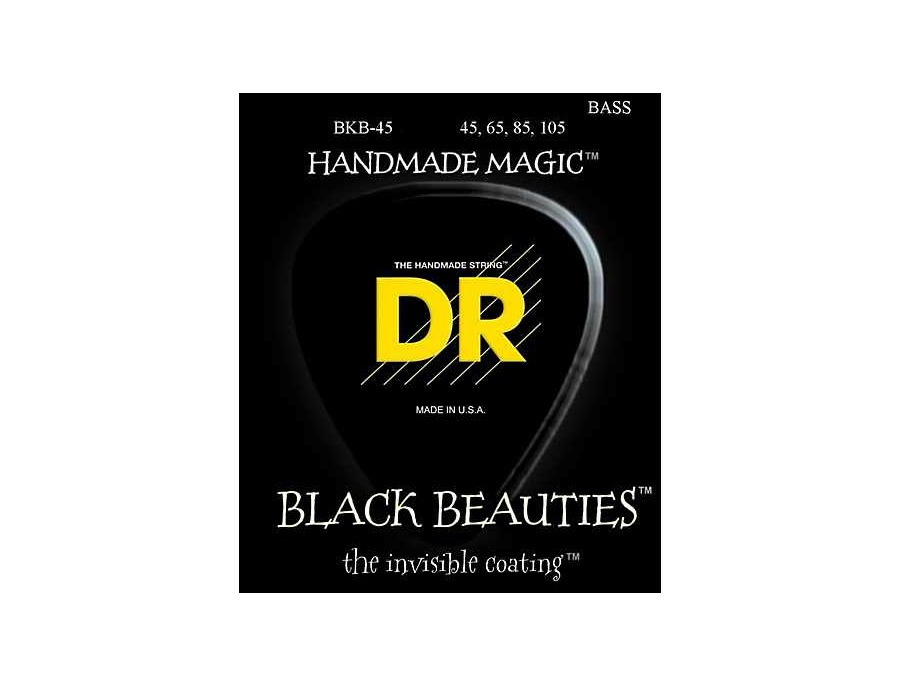 DR Strings Black Beauties Medium 4-String Bass Strings