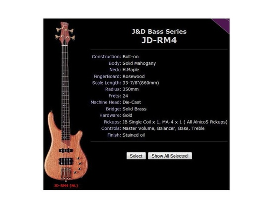 J&D Brothers Bass JD RM4 Modified with 2 outputs