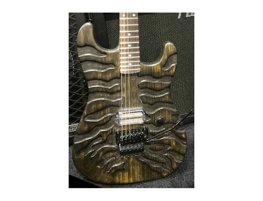 Mr scary Guitars By George Lynch Burnt Tiger