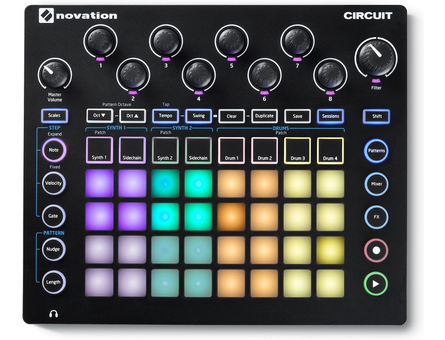 Novation circuit synth and drum machine xl