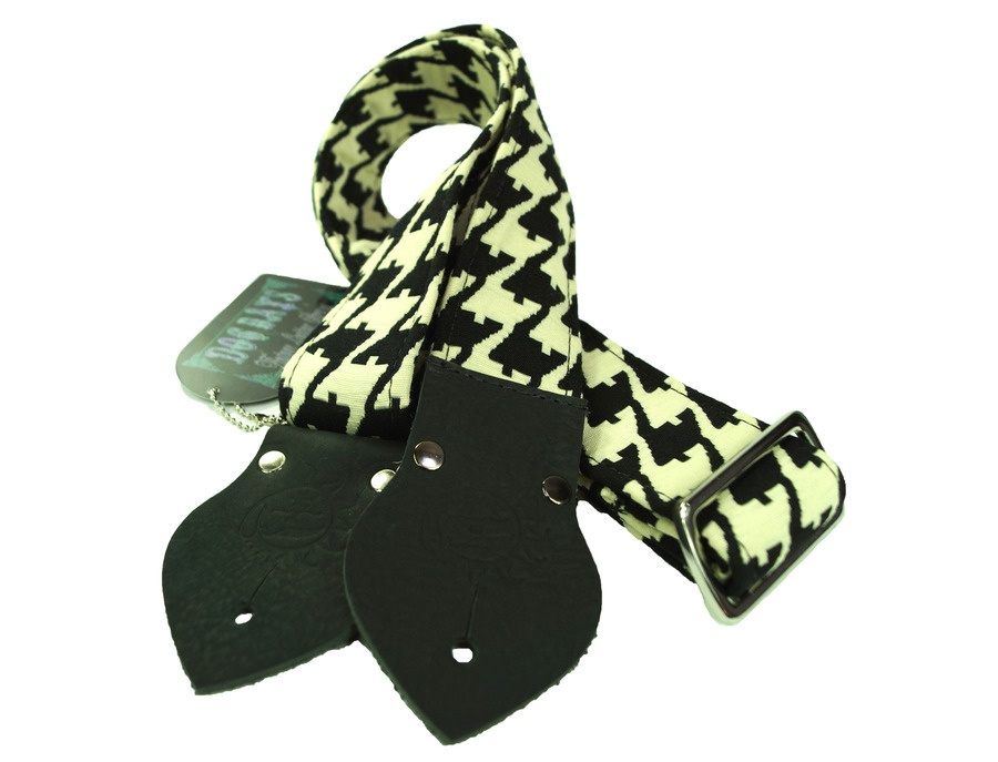 Dog Days Houndstooth True Vintage 2-Inch Guitar Strap