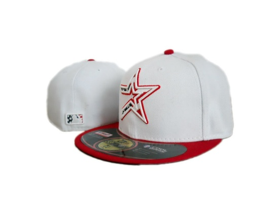 New Era 59fifty Houston Astros White Red Fitted Hat