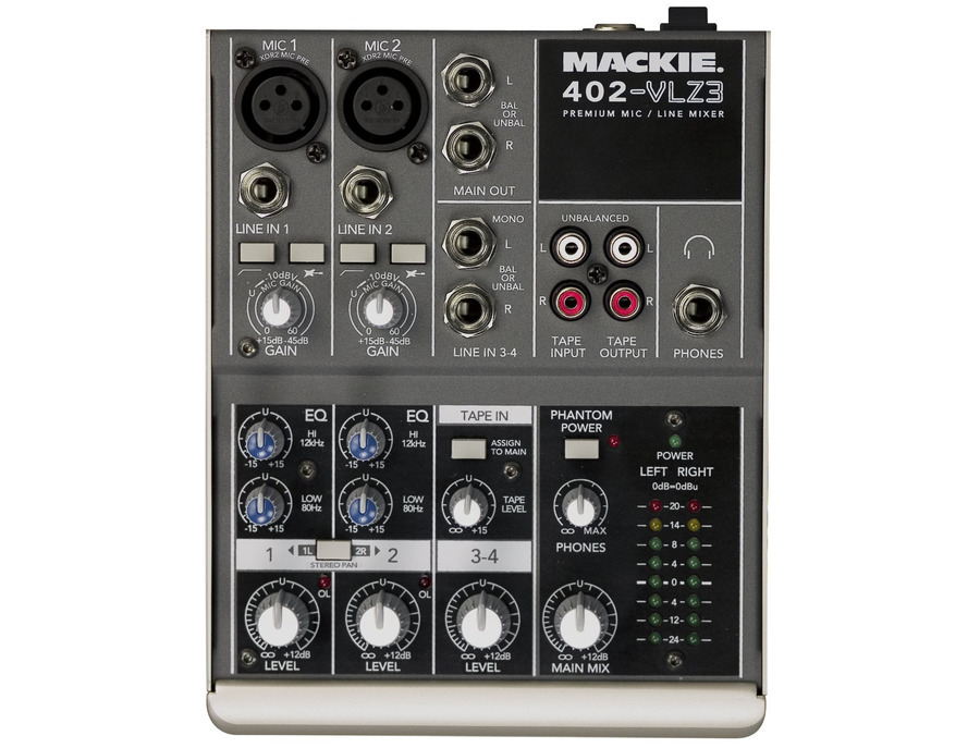Mackie 402 vlz3 4 channel mixer xl