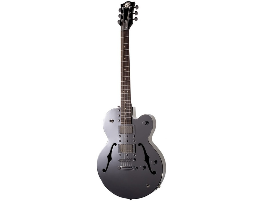 Normandy Chrome Archtop Guitar with Hardtail Bridge and Tailpiece