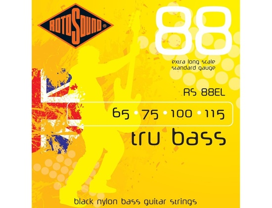 Rotosound RS88EL Black Nylon Flatwound Extra Long (65-115)