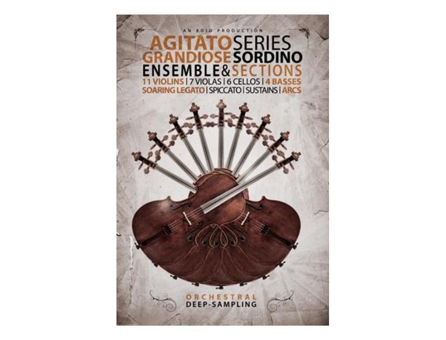 8dio agitato sordino strings for kontakt xl