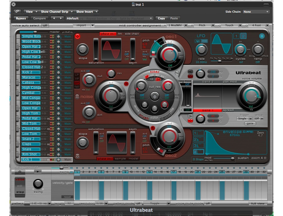 Ultrabeat Drum Synthesis
