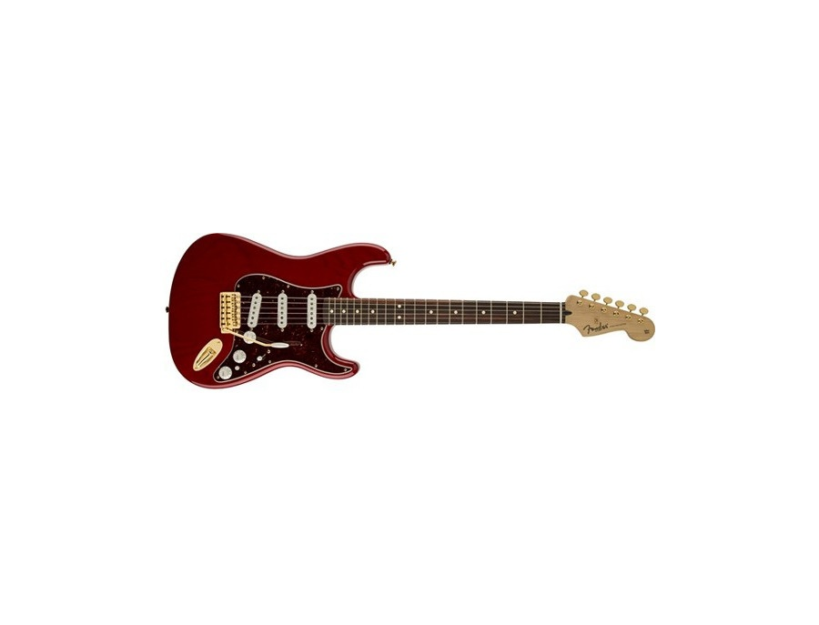 Fender Deluxe Players Stratocaster Crimson Transparent