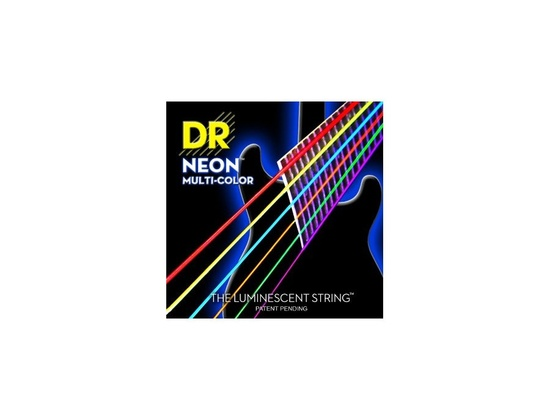DR Strings Hi-Def Multi Color Neon E10