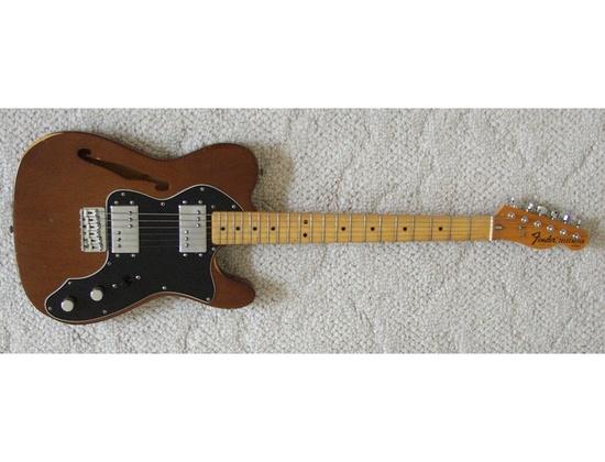 Fender Telecaster Thinline Brown Wash Top