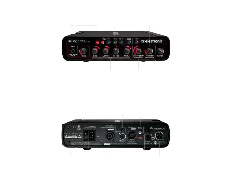 TC Electronic RH 750 Bass Amplifier