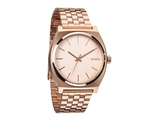 Orologio Misto Nixon The Time Teller A045-897 Cinturino Di Colore Oro Rosa