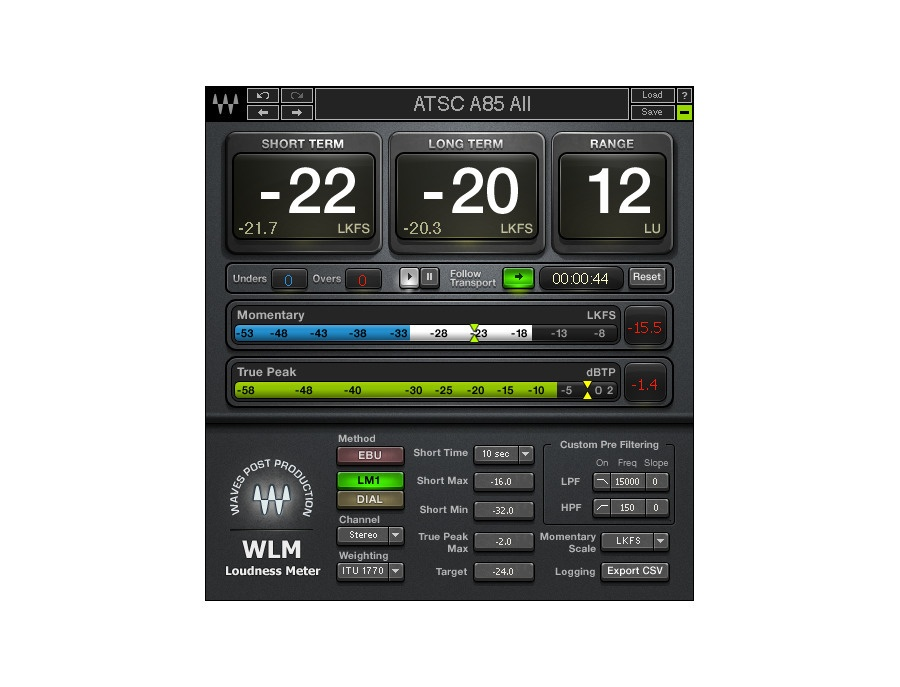 Waves loudness meter