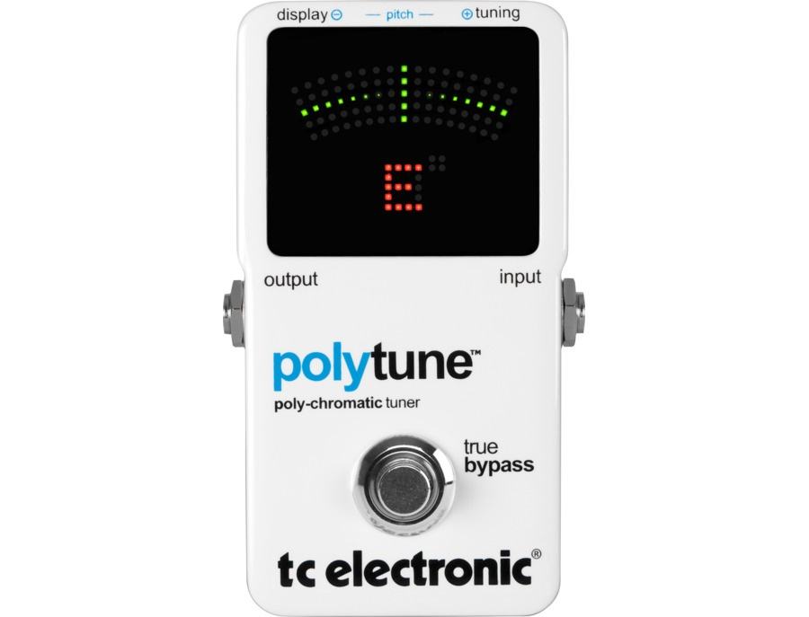 Tc electronic polytune polyphonic tuner pedal xl