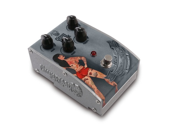 Circus Freak The Tattooed Lady Overdrive Effects Pedal
