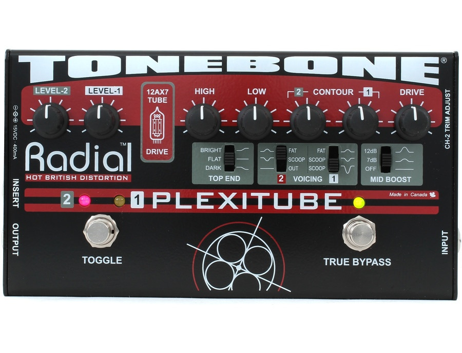 Radial Tonebone Plexitube 12AX7 Tube Distortion Pedal