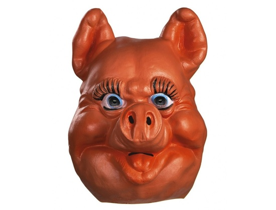 Latex Pinky Pig Mask