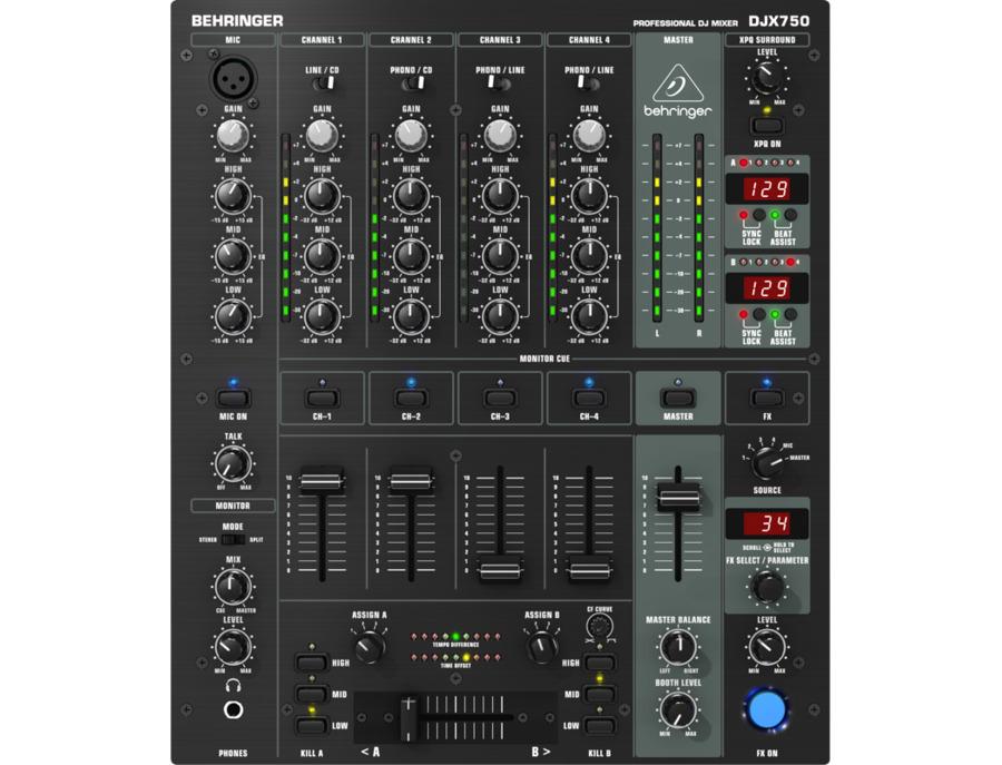 Behringer djx750 5 channel pro dj mixer xl