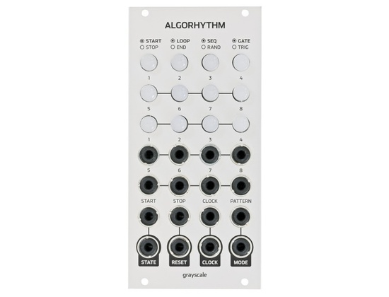 Grayscale Algorhythm 8 step pulse sequencer