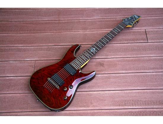 Schecter Damien Elite-7 Crimson Red