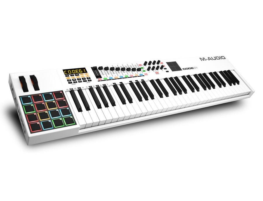M audio code 61 midi controller keyboard xl