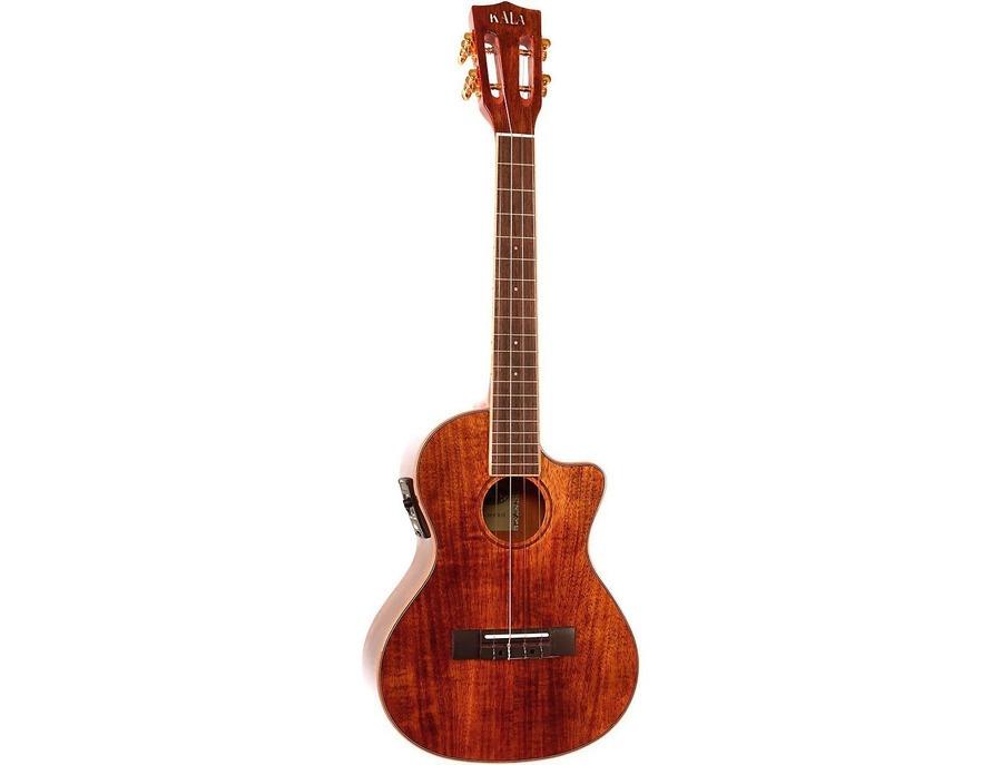 Kala ka kcge c hawaiian koa concert cutaway ukulele with eq xl