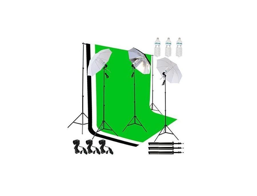 Emart 1500w Photo/Video Green Screen & Lighting Kit