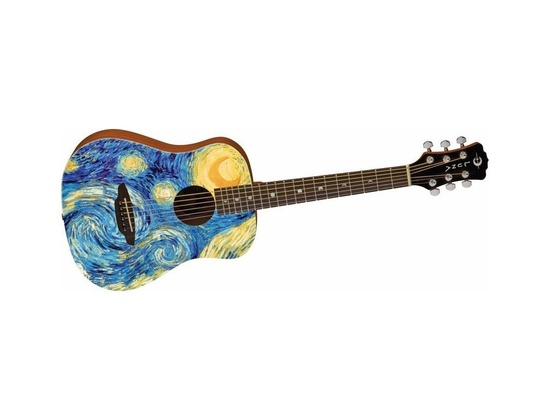 Luna SAFSTR Safari Starry Night Spruce Top Acoustic Guitar