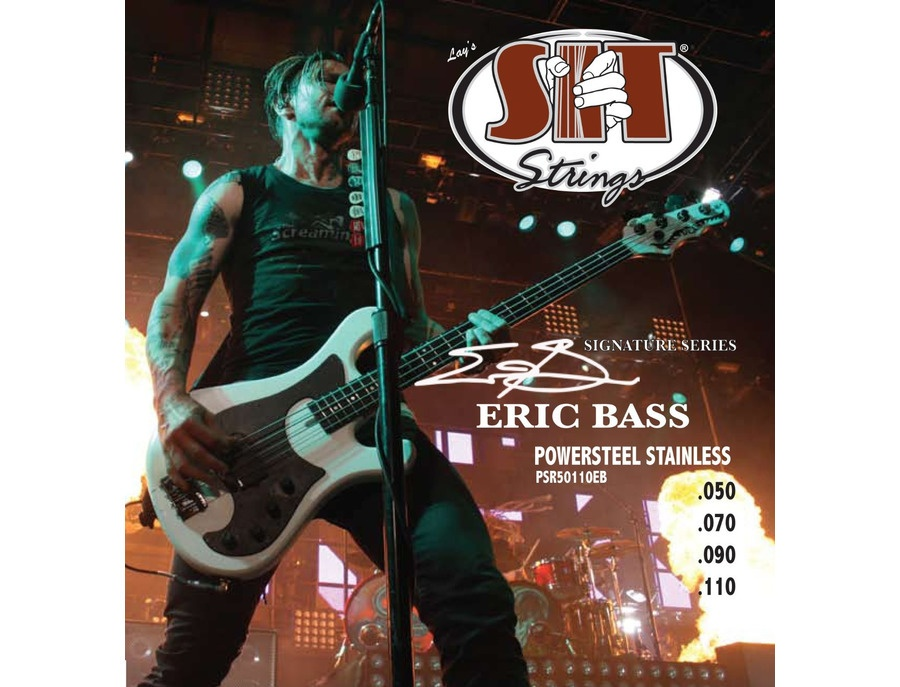 eric bass 39 s sit psr50110eb eric bass guitar power steel signature strings 50 110 equipboard. Black Bedroom Furniture Sets. Home Design Ideas