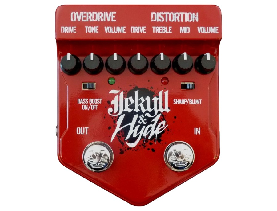 Visual sound v2 series v2jh jekyll and hyde overdrive and distortion guitar multi effects pedal xl