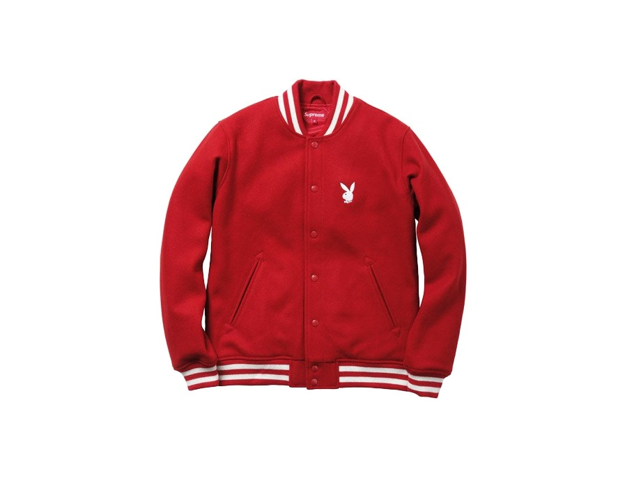 78075125fba6 Supreme x Playboy Varsity Jacket Reviews   Prices