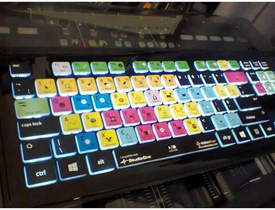 EditorsKeys backlit keyboard for Presonus Studio One