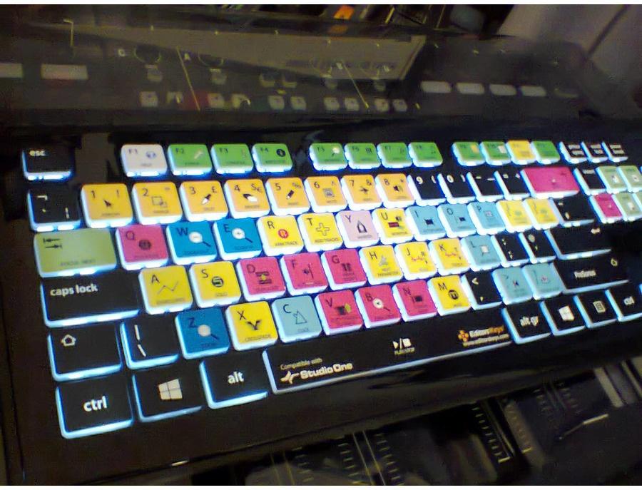Editorskeys backlit keyboard for presonus studio one xl
