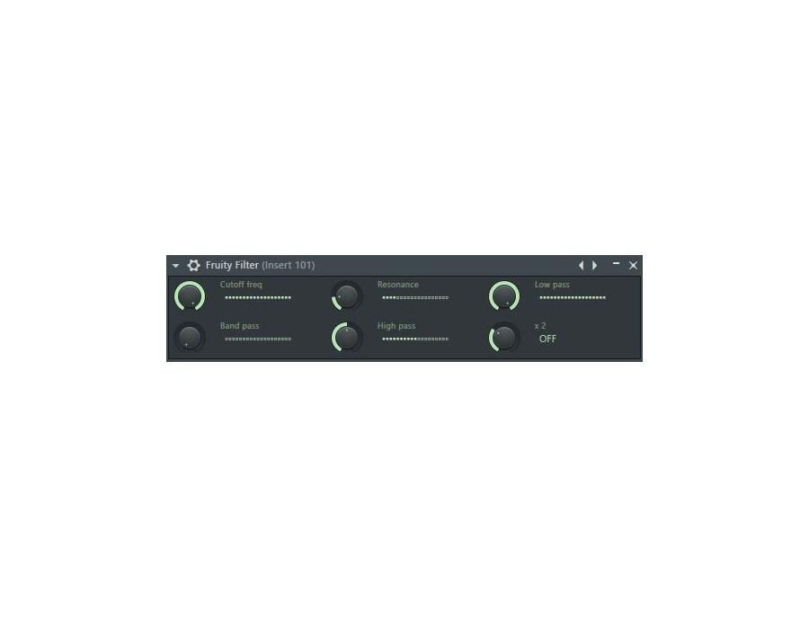 Image Line Fruity Filter Software Filter Plugin