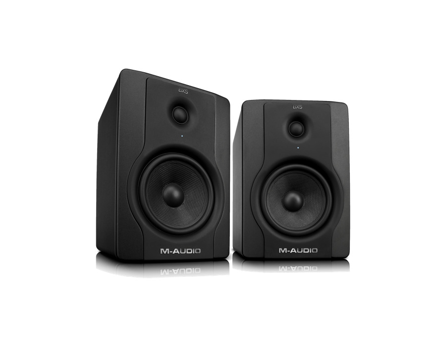 M audio bx5 d2 active two way studio monitor speakers xl