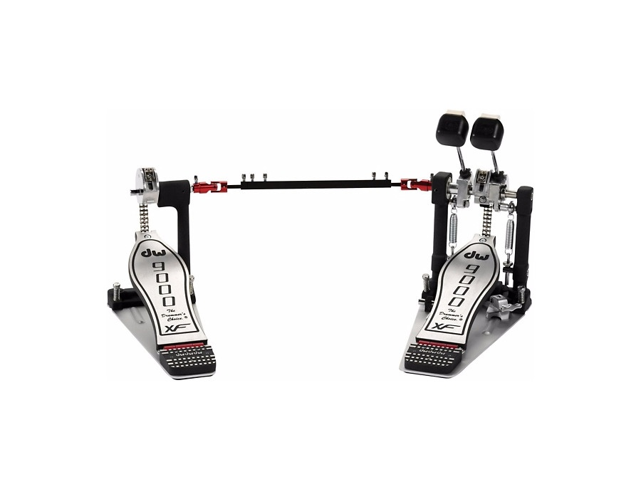 Dw 9000 series double bass drum pedal with extended footboard xl