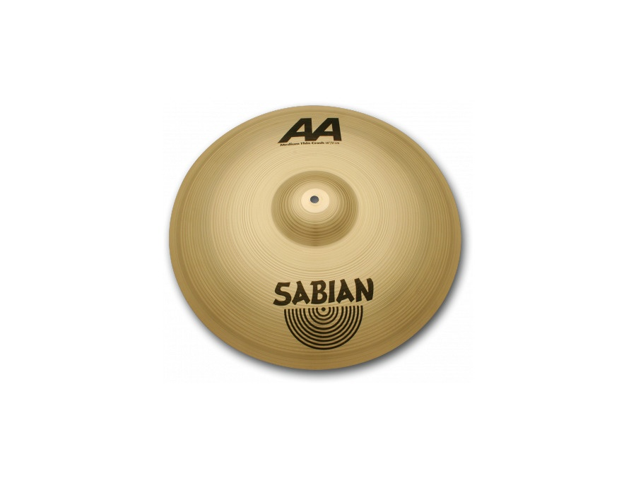 18 sabian aa medium thin crash cymbal xl
