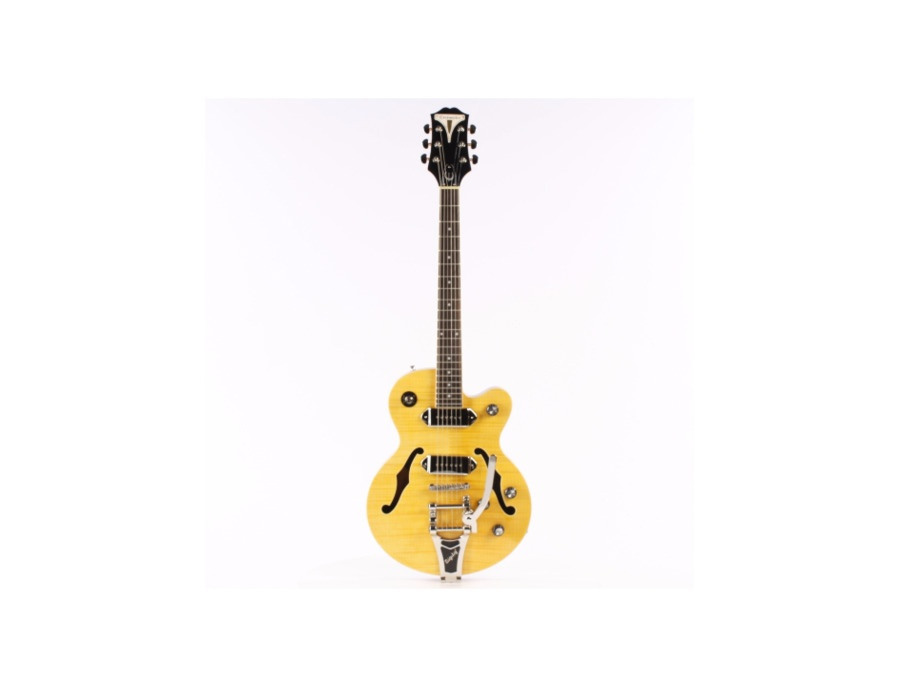 Epiphone Wildkat Hollowbody Electric Guitar with Bigsby  Antique Natural Chrome