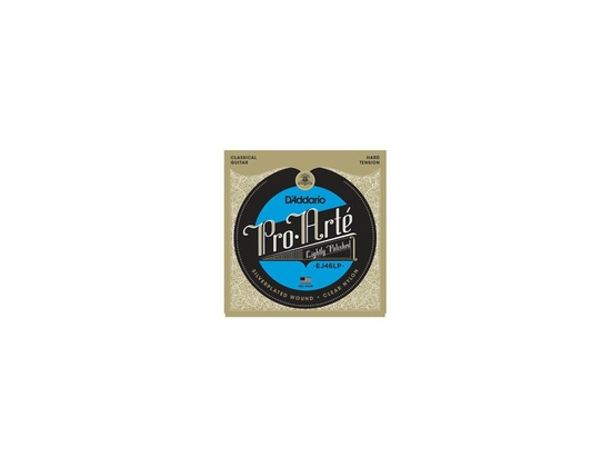 D'Addario Pro Arté EJ46LP strings with lightly polished composite bass strings.