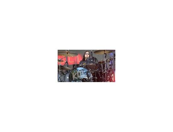 DW black satin oil drum set