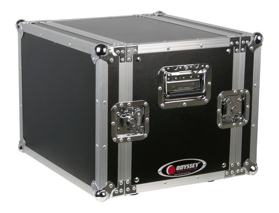 Odyssey Cases FRER8 New Flight Ready 8U Rackmount DJ Special Effects Rack Case