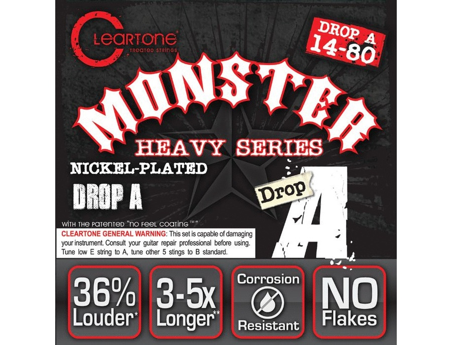 Cleartone Strings Drop A (.14-.70) Guitar Strings