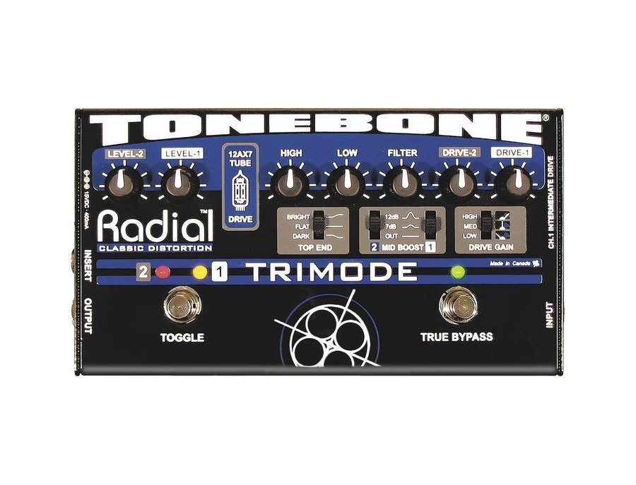 Radial Tonebone Trimode Tube Distortion/Overdrive Pedal