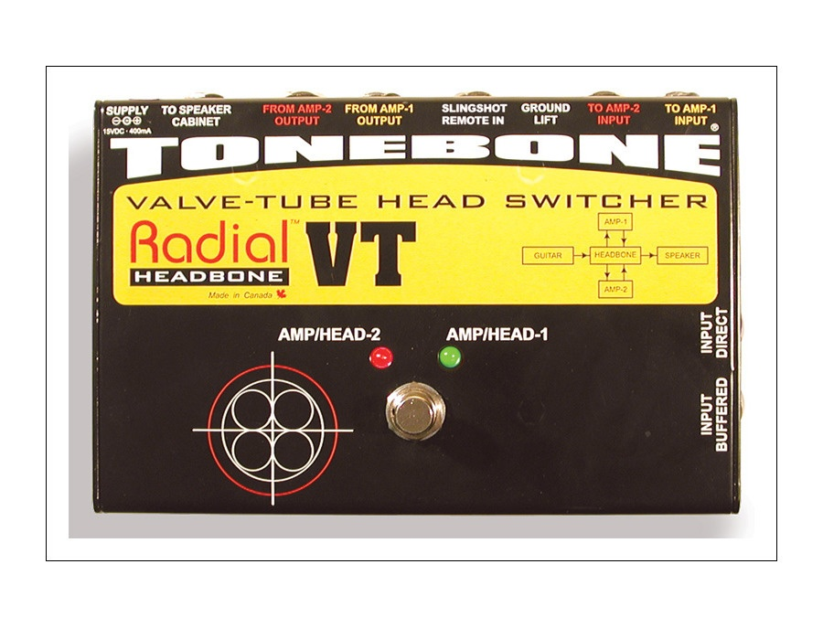 Radial tonebone headbone vt amp head switcher xl