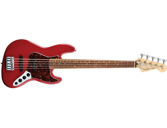 Deluxe Active Jazz Bass® V (Five String) - Candy Apple Red