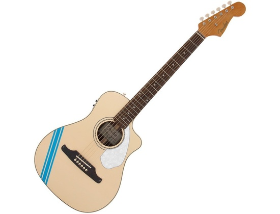 Fender Malibu CE Mustang Acoustic Electric Guitar (Olympic White)