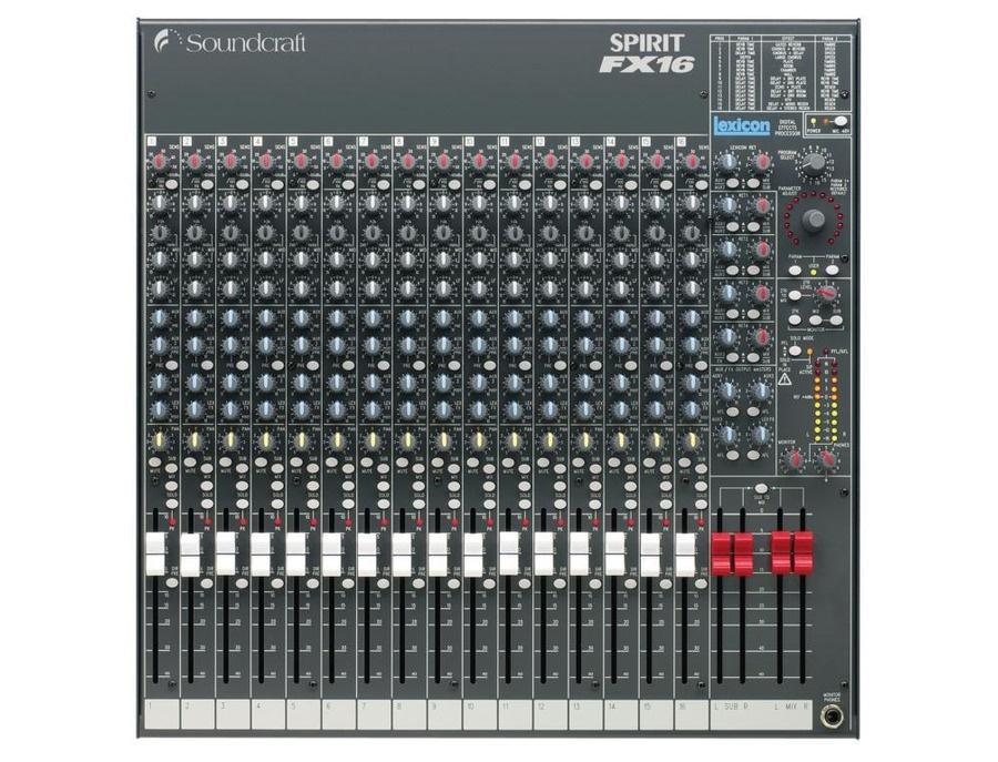 Soundcraft spirit fx16 mixer xl