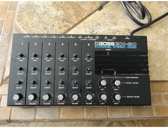 Boss BX-60 6 Channel Stereo Mixer